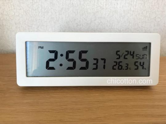 無印良品のデジタル時計