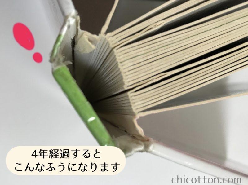 背表紙が取れた本
