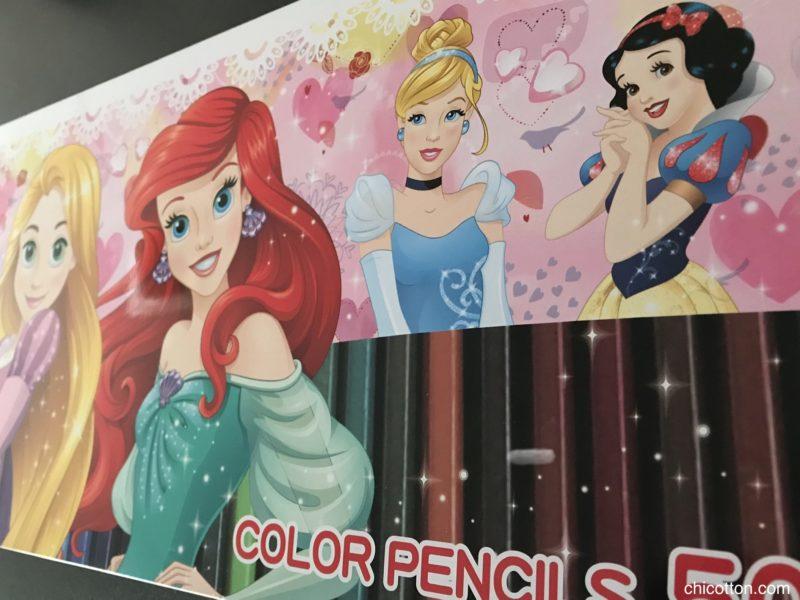 ディズニーの50色の色鉛筆セット
