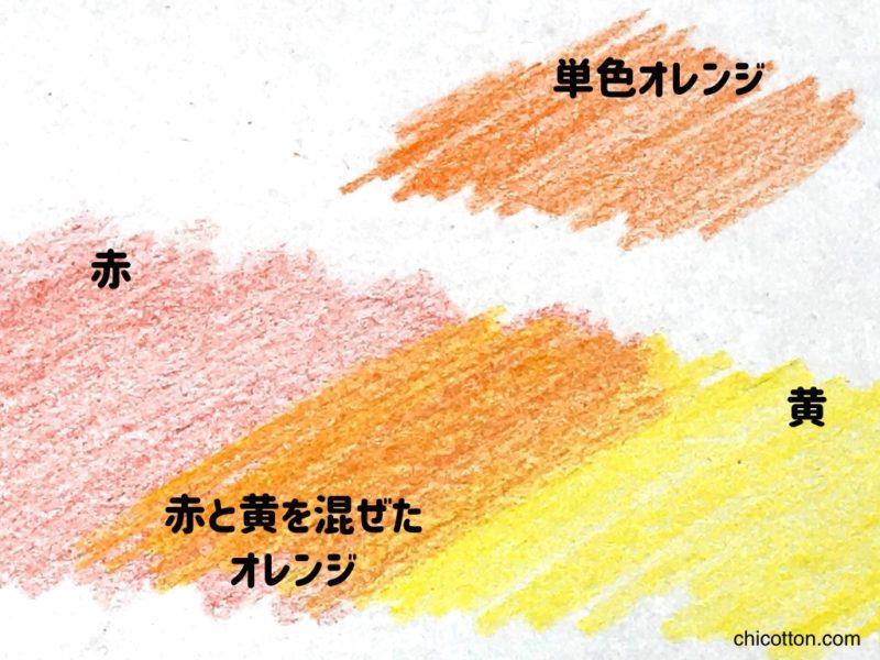 色鉛筆で新しい色を作る