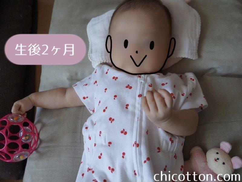 オーボールラトルを持つ赤ちゃん