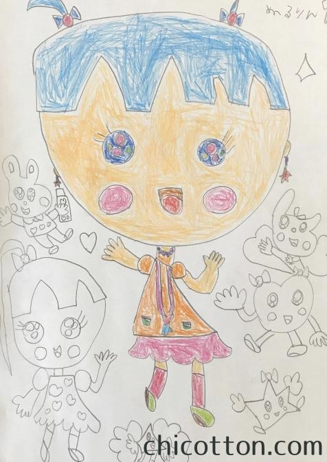 子どもが描いた女の子の絵