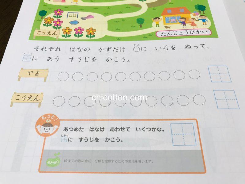 Z会幼児コース年長のお試しワーク