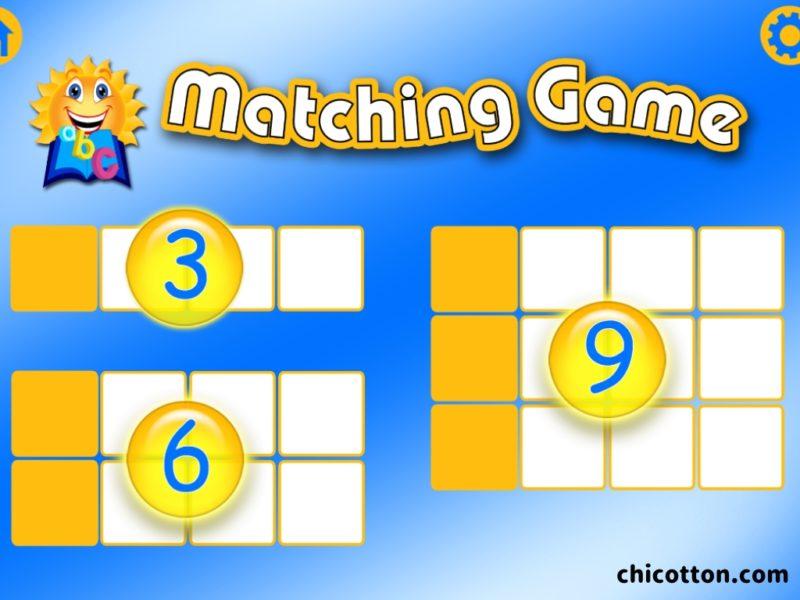英語アプリのマッチングゲーム画面