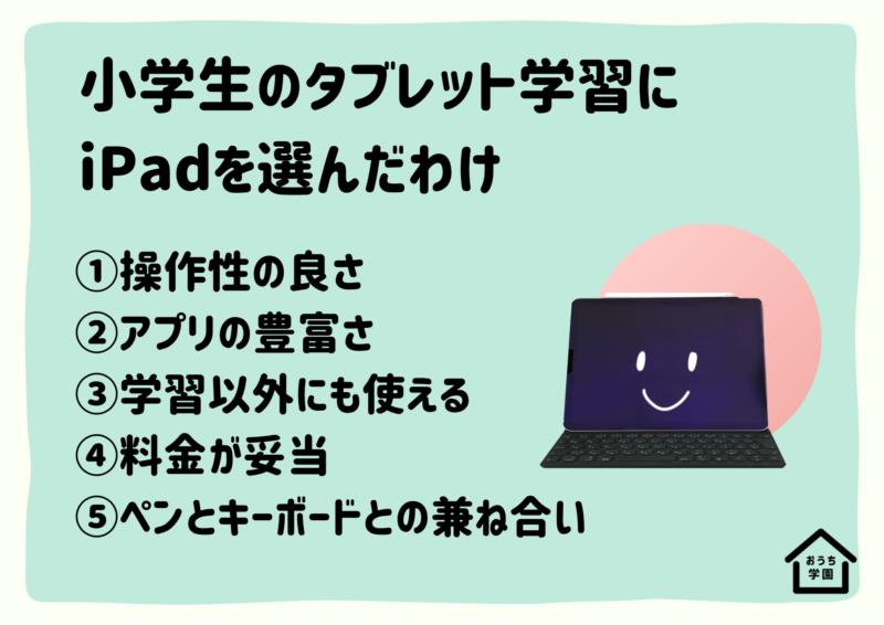 タブレット学習にiPadを選んだ5つの理由